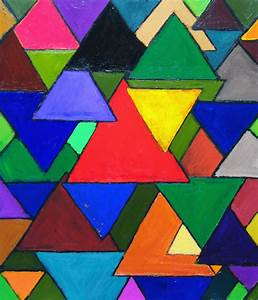 """Triangular Colorful Invaders"":abstract colorful triangle ..."