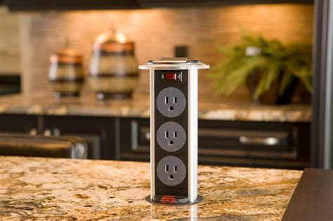 movable kitchen island 2010 home pop up electrical outlet traditional