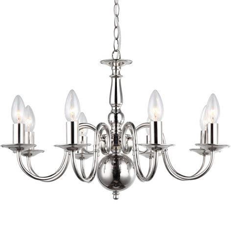 lyon flemish  light chandelier polished nickel  litecraft