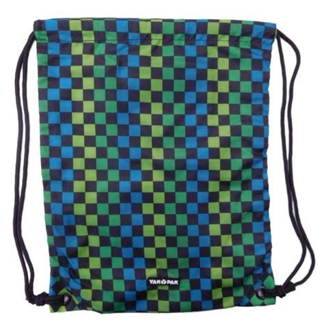 foto de Yak Pak Carrysack Sack Blue & Green Checked Cinch Bag Tote