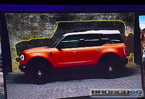 leaked image shows  ford bronco silhouette