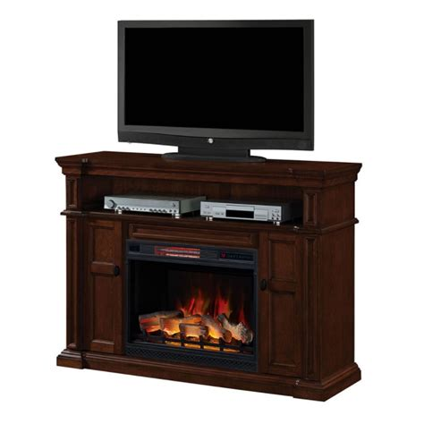 mahogany media stand 58 quot wyatt vintage mahogany electric fireplace media 3967