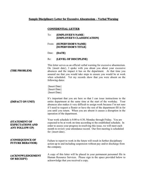 Disciplinary Letter Samples & Templates Download