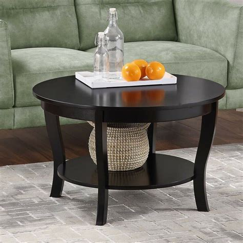 Get the best deal for black wood coffee tables from the largest online selection at ebay.com. Contemporary Solid Wood Round Coffee Table w/ Shelf Decor Display Storage Black   eBay