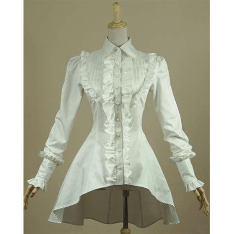 ruffle pleated blouse vintage blouse lace henley blouse