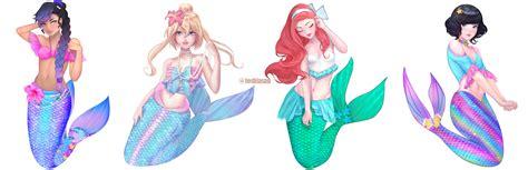 artstation mermaid characters tail designs aleksandra
