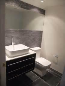 modern masculine half bath