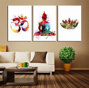 Wall art design ideas colorful modern buddhist
