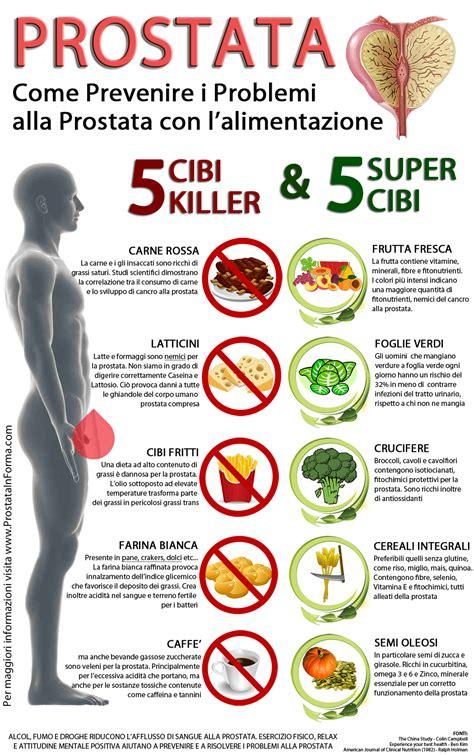 alimenti prostatite dieta per la prostata i cibi dannosi e quelli benefici