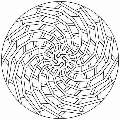 Coloring Mandala Pages Geometric Really Mandalas Fun
