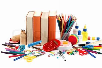 Supplies Office Clipart Stationery Background Supply Supplier