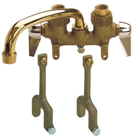 utility sink faucet lowes shop mueller streamline traditions rough brass 2 handle