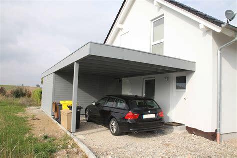 Carport An Haus by Carport Am Haus Pultdach Carport Carport Am Haus Vorne