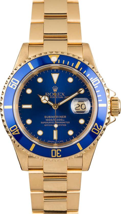 Rolex Submariner 16618 Blue Dial | Bob's Watches Item: 122625