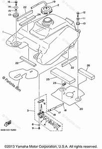 Yamaha Atv 2002 Oem Parts Diagram For Fuel Tank