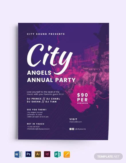 city angels party flyer flyer template party flyer