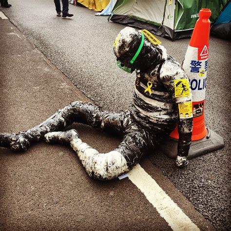 protest art  harcourt road hong kong   eyes