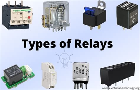 Different Types Of Relays, Their Construction, Operation