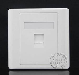 Wall Socket Plate One Single Port Network Ethernet Lan Cat6 Outlet Panel Faceplate Rj45 Home