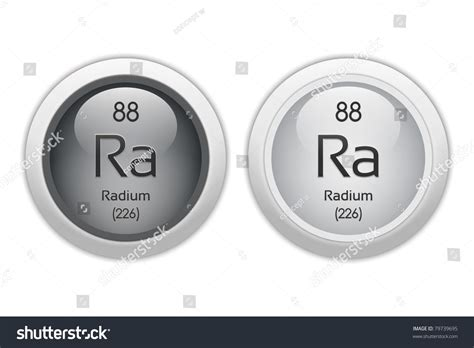 Radium Web Buttons Chemical Element Atomic Stock