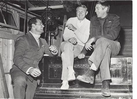 paul newman great escape james garner steve mcqueen and james coburn on the set