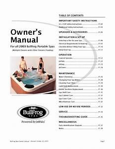 Bullfrog-spa-owners-manual-2003 By Envirosmarte Hot Tubs  U0026 Swim Spas