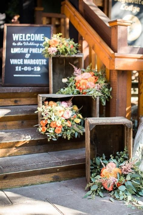 wedding decor fall outdoor weddings decoration deer staircases flowers