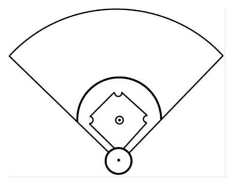 baseball field template free blank baseball clipart best