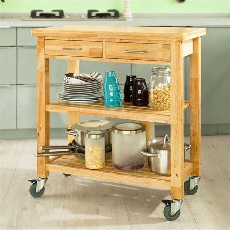 Küchenregal Mit Arbeitsplatte by Sobuy Servierwagen Aus Gummi Holz K 252 Chenwagen K 252 Chenregal