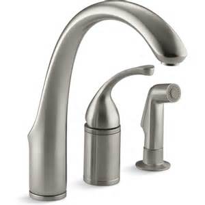 kitchen faucet fixtures kohler faucet k 10430 bn forte vibrant brushed nickel one handle with sidespray kitchen faucets