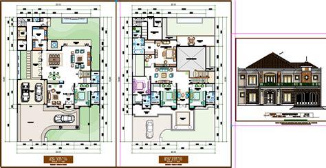 luxurious bungalow plan cadbull
