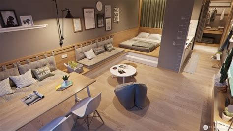 Small Living Streamlined Studio Apartment by 4 Small Studio Interior Designs That Give Places A Lift