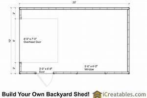 12x20 Garage Shed Plans icreatables com