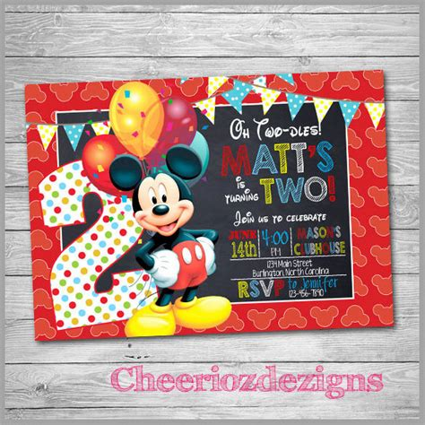 sample mickey mouse invitation template