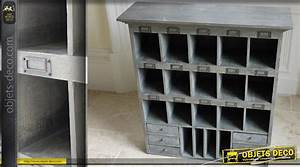 Meuble Industriel Vintage : meuble de rangement style industriel vintage ~ Nature-et-papiers.com Idées de Décoration