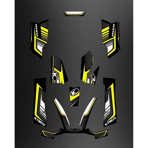 kit deco limited yellow kymco 550 700 mxu