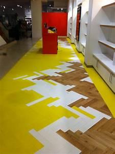 Colored parquet collection by mckay flooring design milk for Colorer parquet