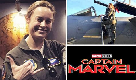 brie larson usafa avengers captain marvel brie larson first look in fighter