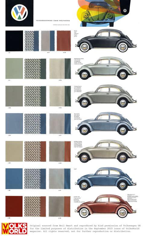 vw beetle colour charts das auto pinterest bilar