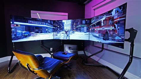 Purple Black Bedroom Decor Ultimate Gaming Setup The Division Youtube