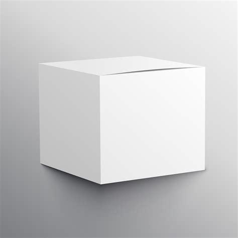 realistic empty box mockup template design