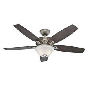 hunter heathrow 52 in brushed nickel ceiling fan 52110