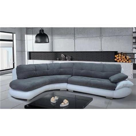 canapé d angle gris pas cher canapé d 39 angle regal gris et blanc angle gauche achat