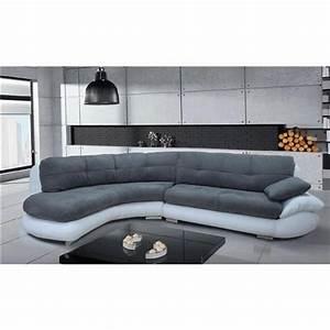canape d39angle regal gris et blanc angle gauche achat With canapé d angle cuir gris et blanc