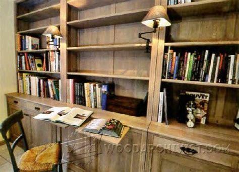 built  bookcase plans woodarchivist