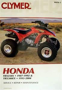 New Honda Atv Trx 250x 300ex Fourtrax Repair Manual