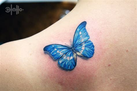 blue butterfly tattoo tattooshuntcom