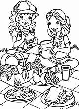 Coloring Picnic Pages March Para Children Hobbie Holly Colorear Dibujos Printable Clipart Picknick Colouring Autumn Mid Festival Kleurplaten Printables Kid sketch template
