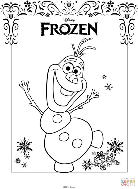 Frozen Olaf Coloring Page Olaf From Frozen Coloring Page Free Printable Coloring Pages
