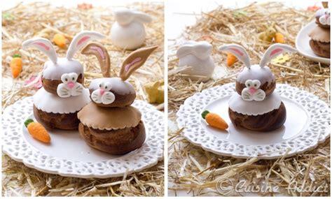 cuisine japonaise facile tuto déco petits lapins en pâte à sucre pour religieuses